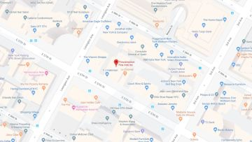 Throckmorton Fine Art Gallery NYC Map